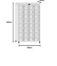 Roupeiro de aço 32 portas RCH