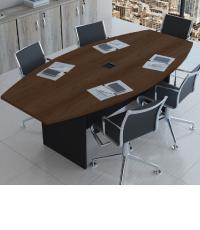 Mesa de reunião Semi Oval