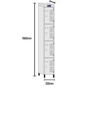 Roupeiro de aço 2/4 portas RCH