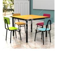 Conjunto 1 Mesa com 4 Cadeiras Juvenil