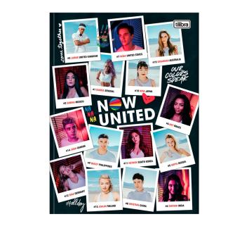 Caderno Now United Brochura Grande 80 Folhas