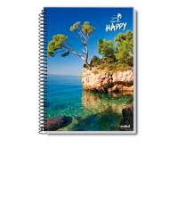 Caderno Happy Credeal 1 Matéria 80 Folhas