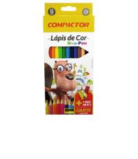 Lápis De Cor Neo Pen 12 Cores Compactor