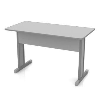 Mesa de escrit rio retangular 1400mm lojas moretto for Protector de mesa escritorio